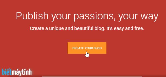 Cách tạo blog/website miễn phí bằng Blogspot (#1)