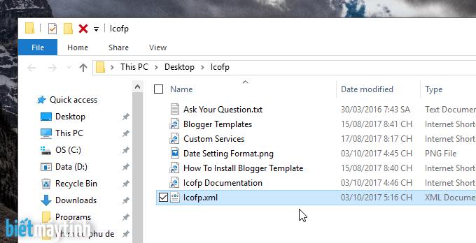Cách thay đổi template cho blogspot