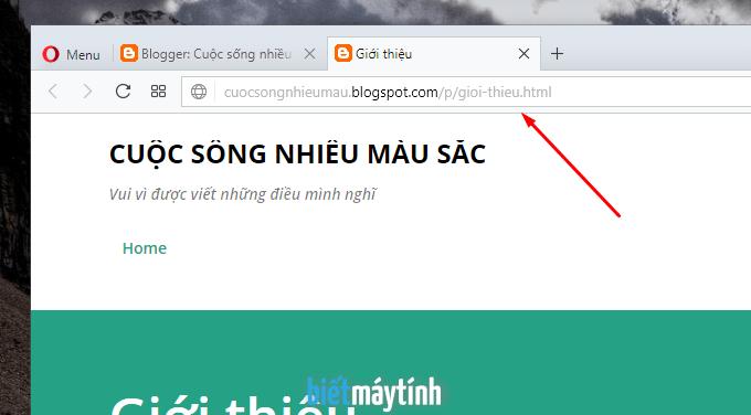 Cách thêm trang (Page) trong Blogspot (#4)