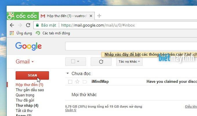 Cách gửi email cho 1 hoặc nhiều người