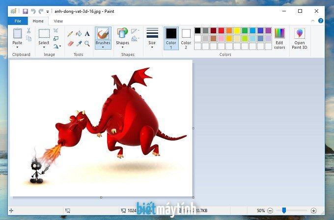 Cách mở Paint trong máy tính