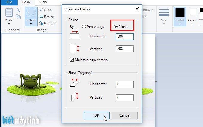 Cách resize ảnh, đổi kích thước ảnh bằng Paint