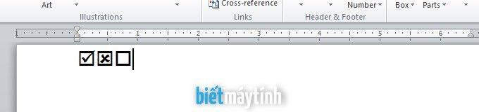 Cách tạo ô tích (checkbox) trong Word chi tiết nhất | Biết máy tính