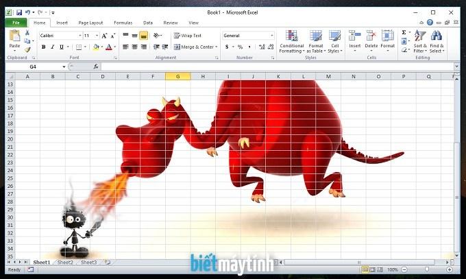Cách chèn hình nền vào Excel