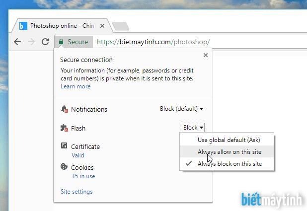 Sửa lỗi không mở được Photoshop online