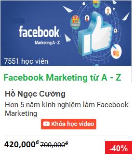 Học Facebook Marketing, quảng cáo trên Facebook