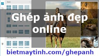Ghép ảnh online, ghép ảnh trực tuyến
