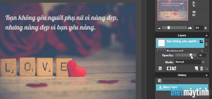 cách làm quotes bằng photoshop online