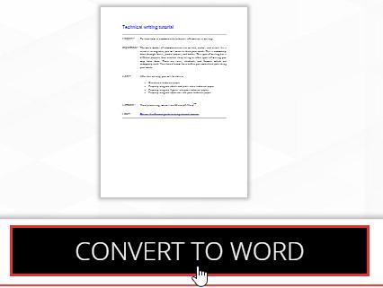 chuyển đổi pdf sang word online miễn phí