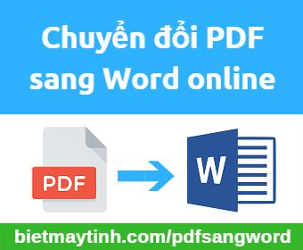 chuyển pdf sang word