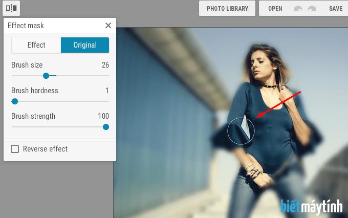Làm mờ ảnh trực tuyến bằng phần mềm chỉnh sửa ảnh online