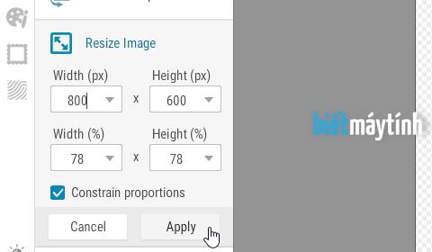 Thay đổi kích thước ảnh online