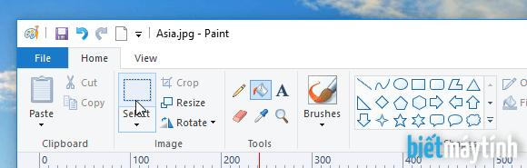 Cách cắt ảnh hình tròn trong Paint