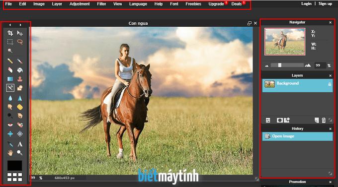 Học photoshop online cơ bản