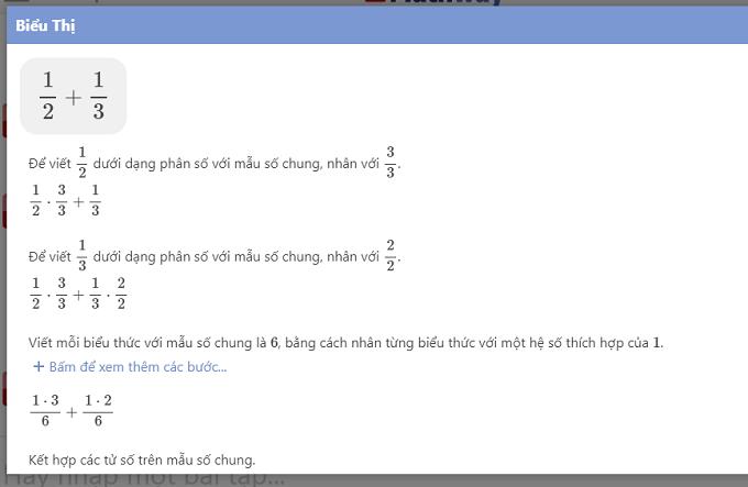 Giải toán trực tuyến