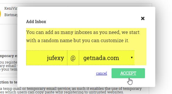 Tạo email ảo trực tuyến
