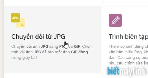 Chuyển JPG sang PNG, GIF trực tuyến