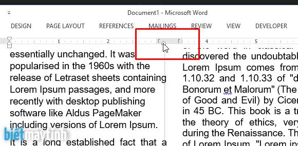 Lỗi văn bản tràn vào nhau sau khi chia cột