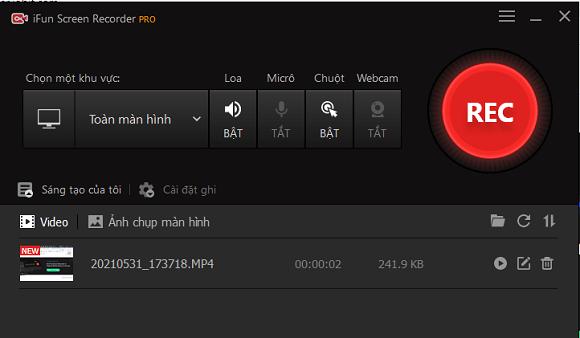 Tặng iFun Screen Recorder Pro