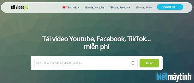 Tải video Youtube, Facebook trực tuyến