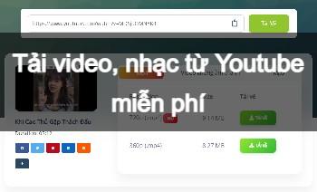 Tải video, nhạc từ Youtube miễn phí